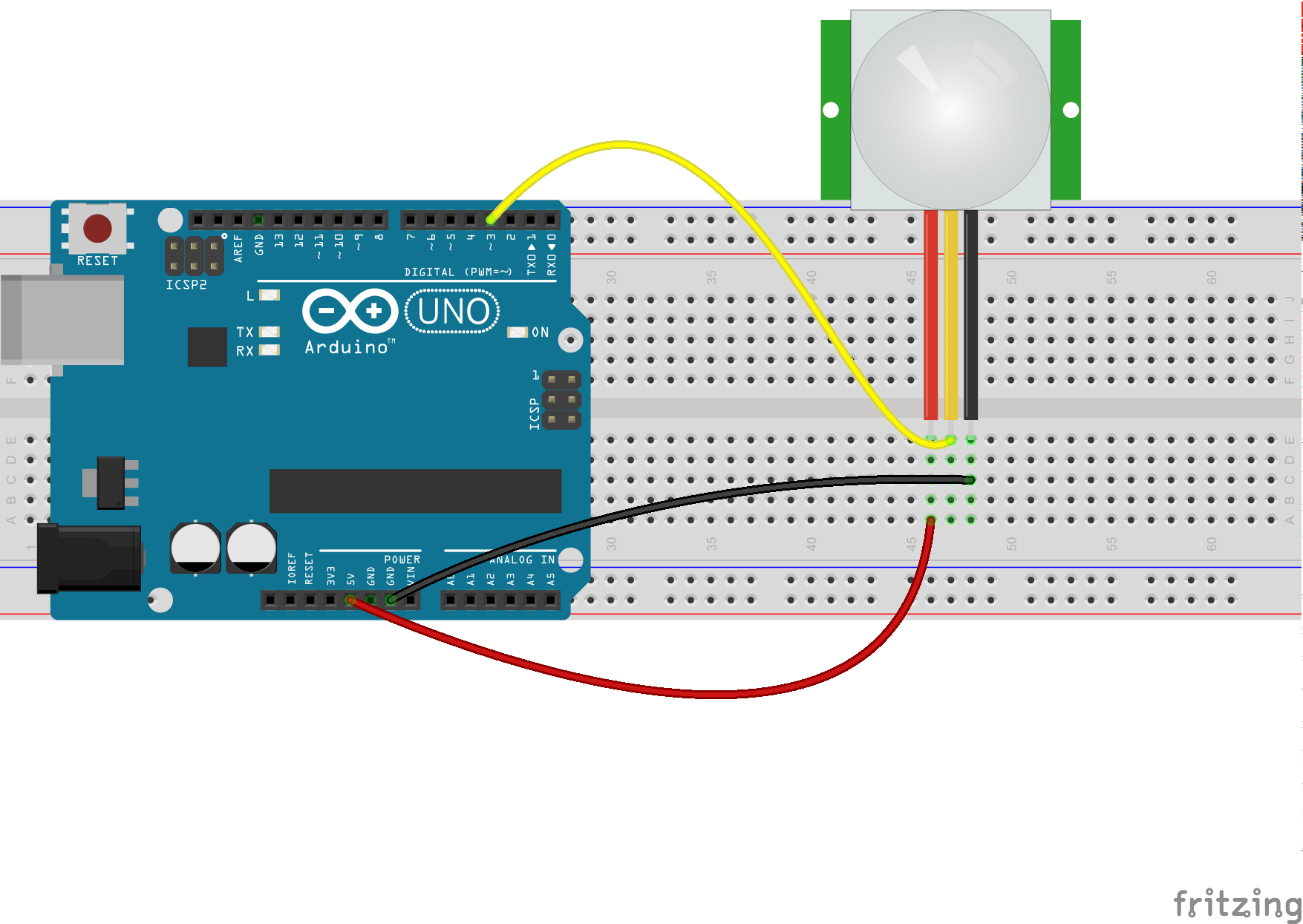 Pir Sensor With The Arduino