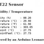Arduino Leonardo WEB Server to Display Temperature and Humidity