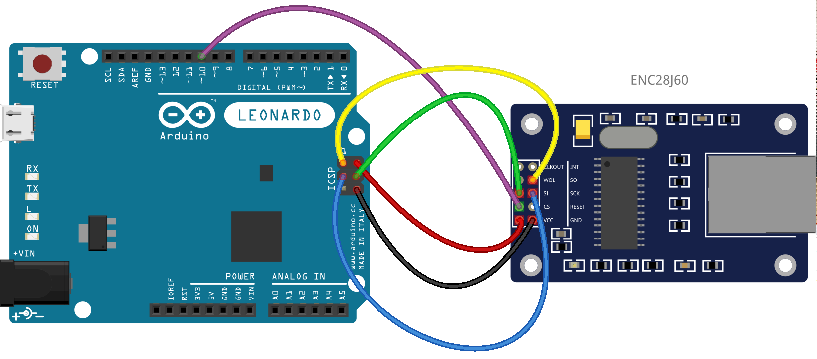 Arduino Leonardo And Spi Communications Moreover Ether Switch Wiring Diagram On Serial Cable Here Is The Enc28j60