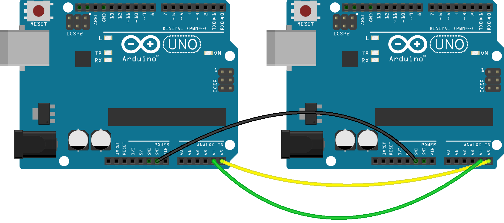 I c wire chat between two arduinos microcontroller