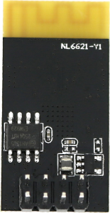 The NL6621-Y1 wireless module Back Image
