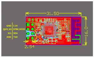The NL6621 wireless module PCB Layout