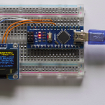 OLED Display attached to an Arduino Nano