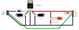 12V to 5V Sensor Circuit
