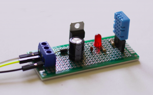 12V to 5V Sensor Circuit with DHT11