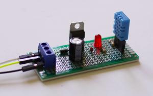12V to 5V Sensor Circuit with DHT11
