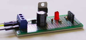 12V to 5V Sensor Circuit Side View