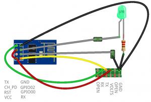 ESP8266 DIY Cradle Wiring