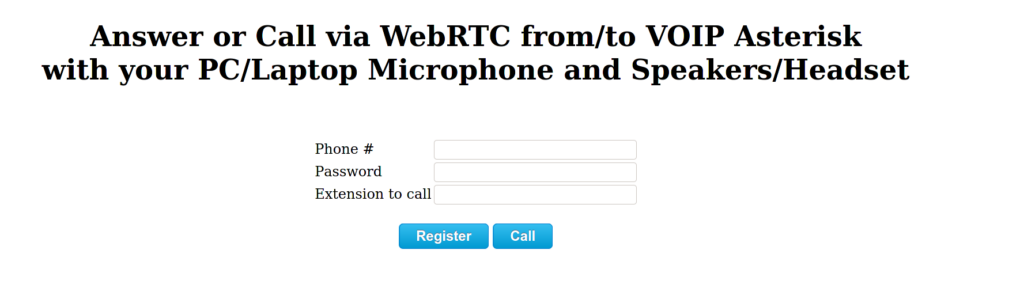 WebRTC Phone Calls via Asterisk